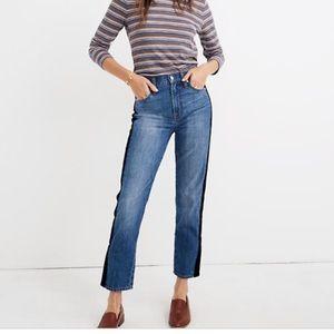 NWOT Madewell Perfect Vintage Tuxedo Stripe Jean